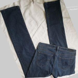AG The Stevie Slim Straight Blue Denim Jeans